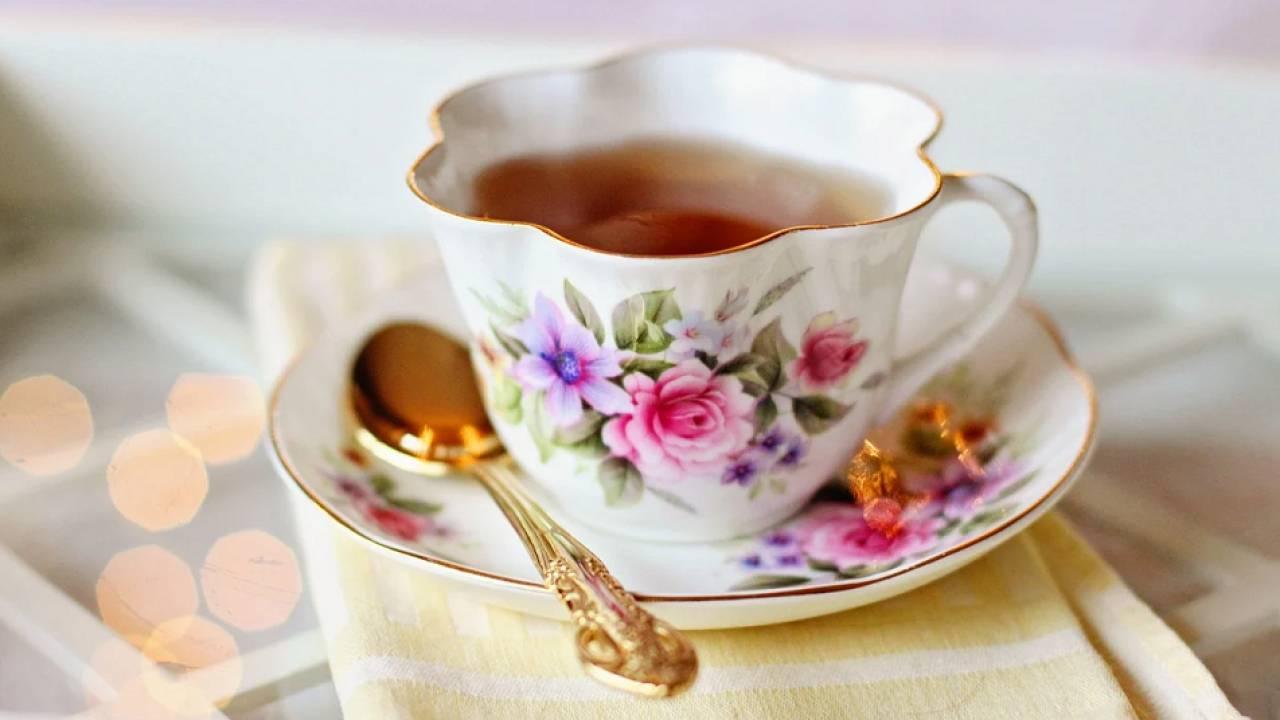 тоже чай пью